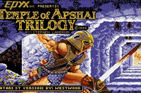 Checking out The Temple of Apshai for Atari ST